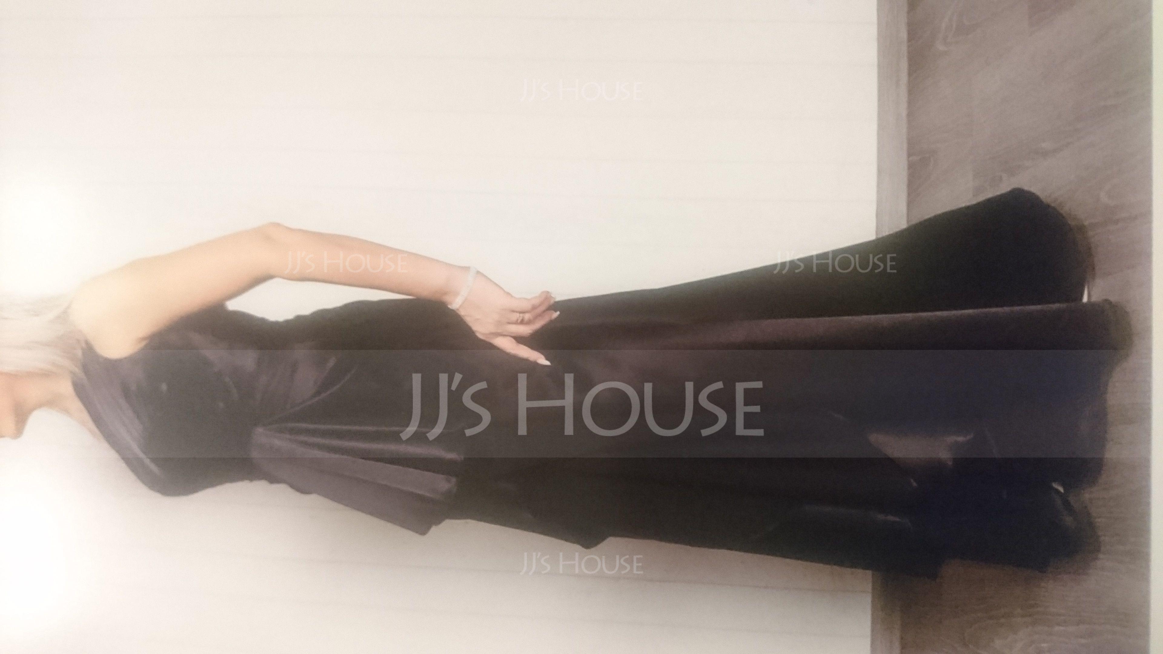 Forme Princesse Encolure asymétrique Longueur ras du sol Charmeuse Robe de soirée avec Robe à volants (017021116)
