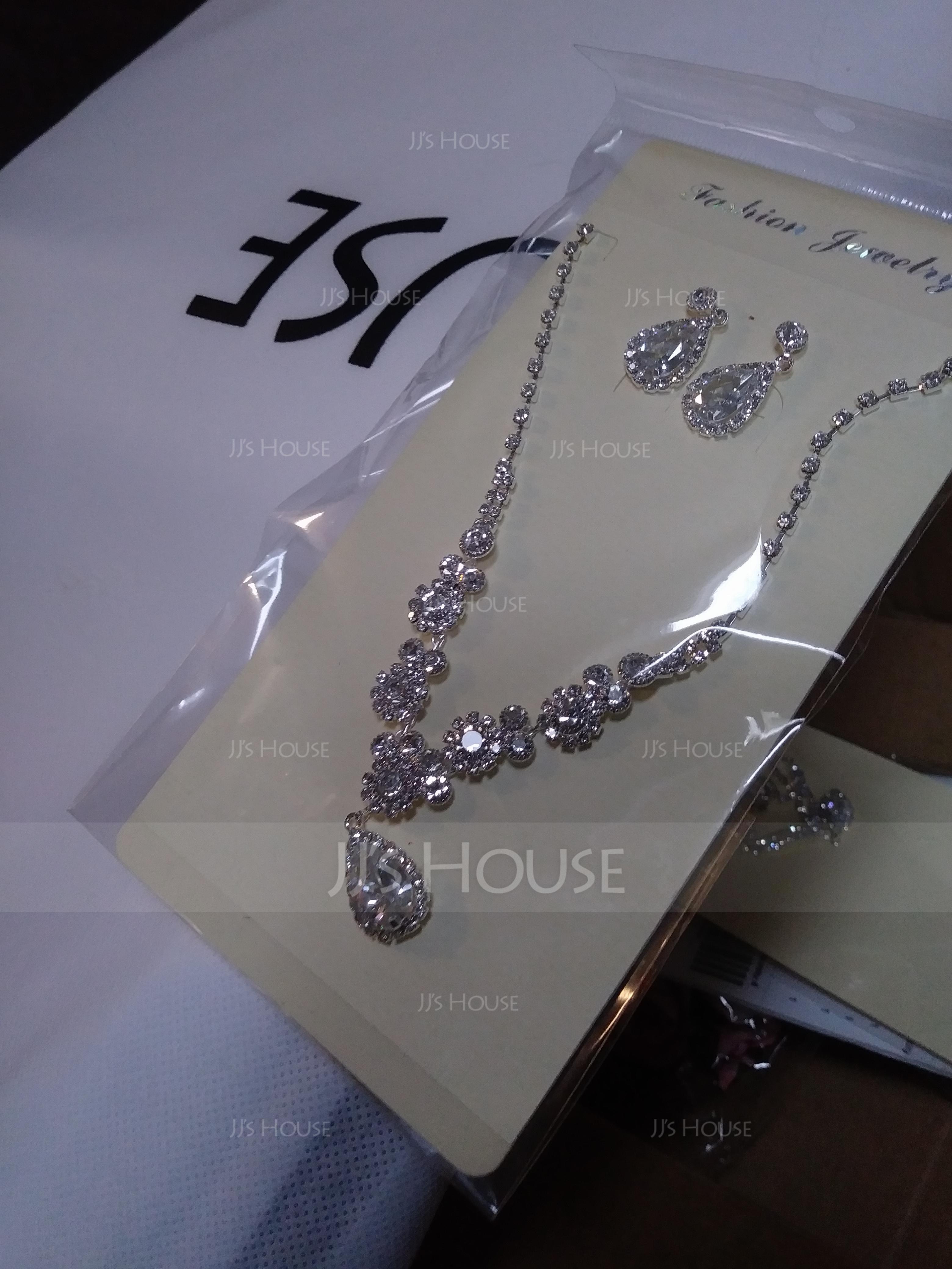 Elegant Alloy/Rhinestones With Rhinestone Ladies' Jewelry Sets (011119699)