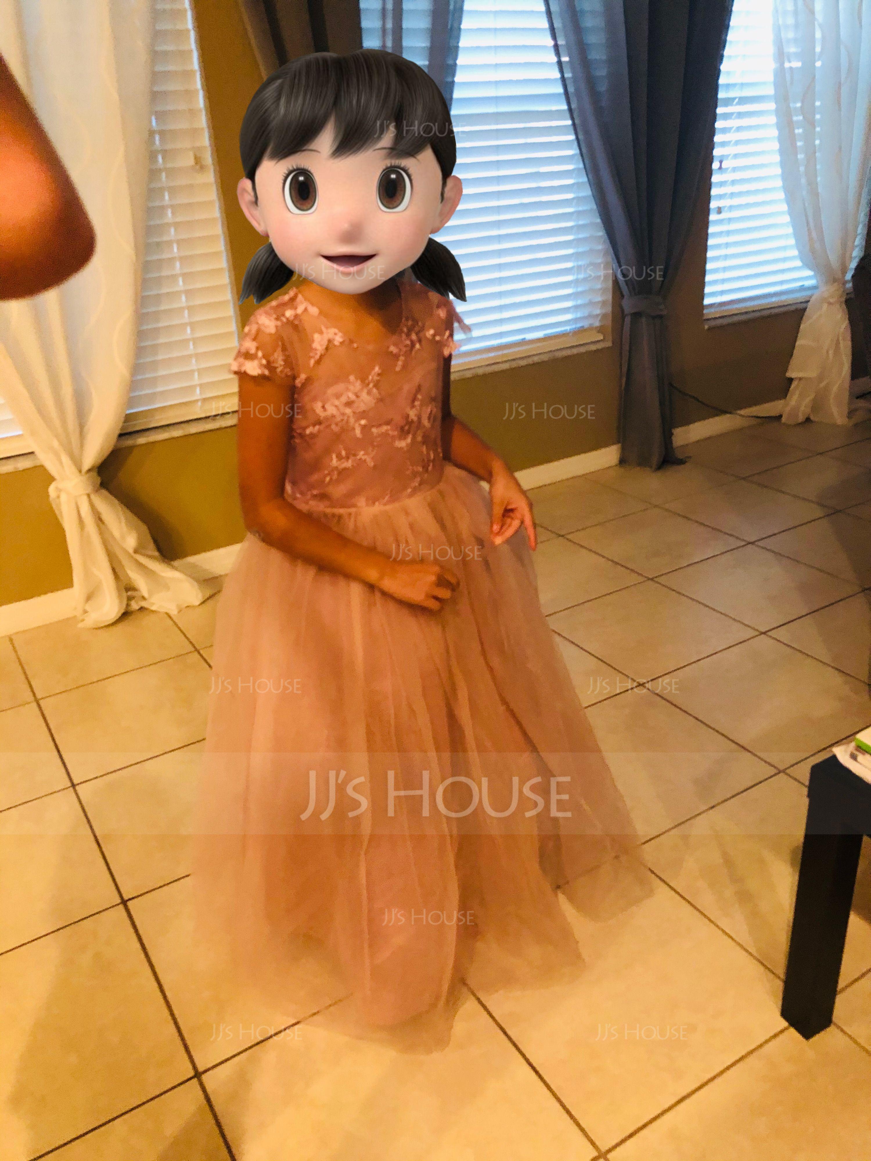 A-Line Floor-length Flower Girl Dress - Satin/Tulle/Lace Sleeveless Scoop Neck With Sash (Detachable sash) (010183559)