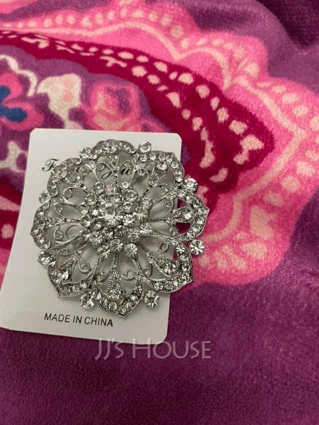 Fancy Alloy/Rhinestones/Imitation Pearls With Rhinestone Ladies' Brooch