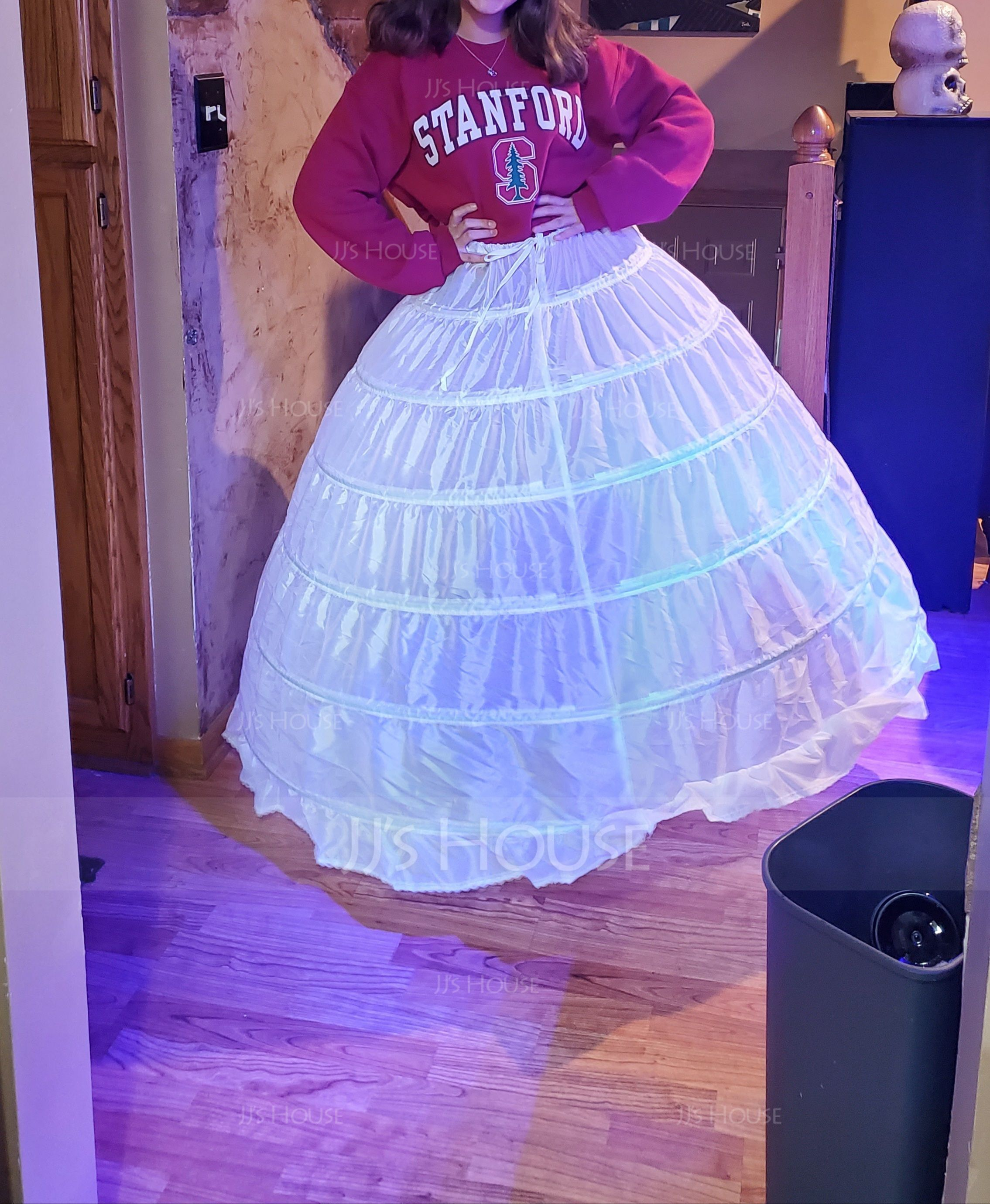 Women Polyester 1 Tiers Petticoats