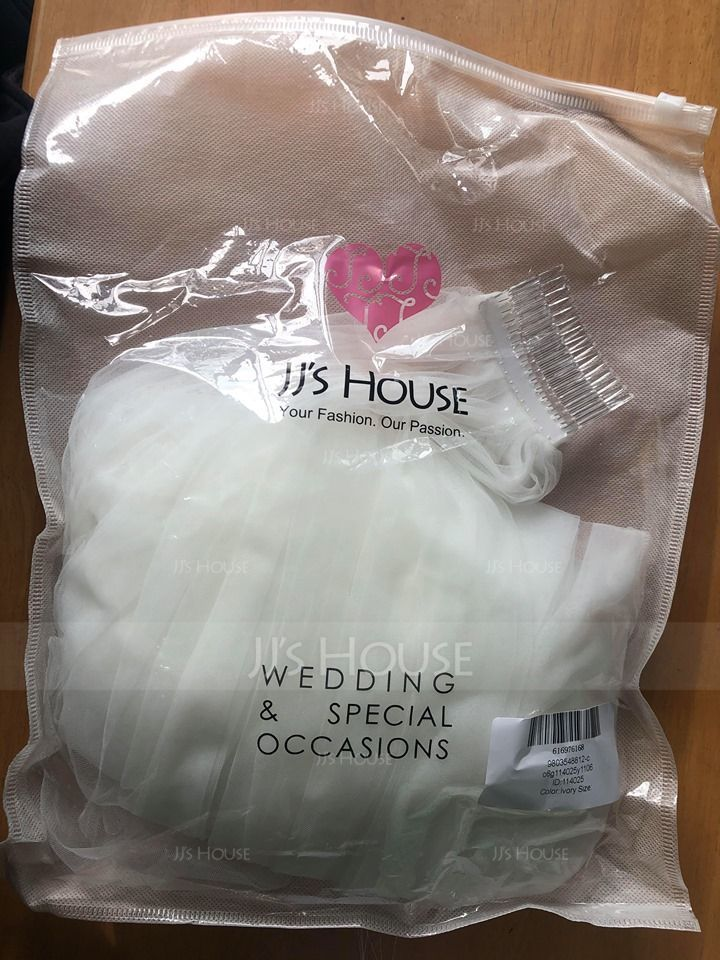 One-tier Cut Edge Cathedral Bridal Veils (006114025)