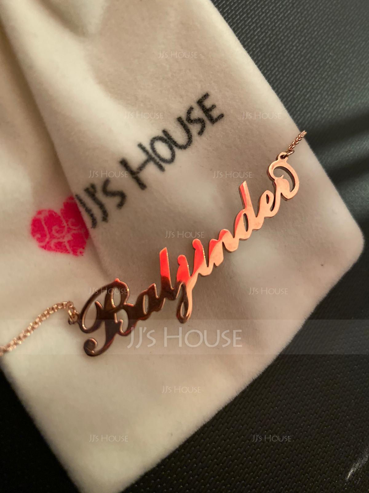 Custom 18k Gold Plated Carrie Name Necklace - Valentines Gifts (288211300)