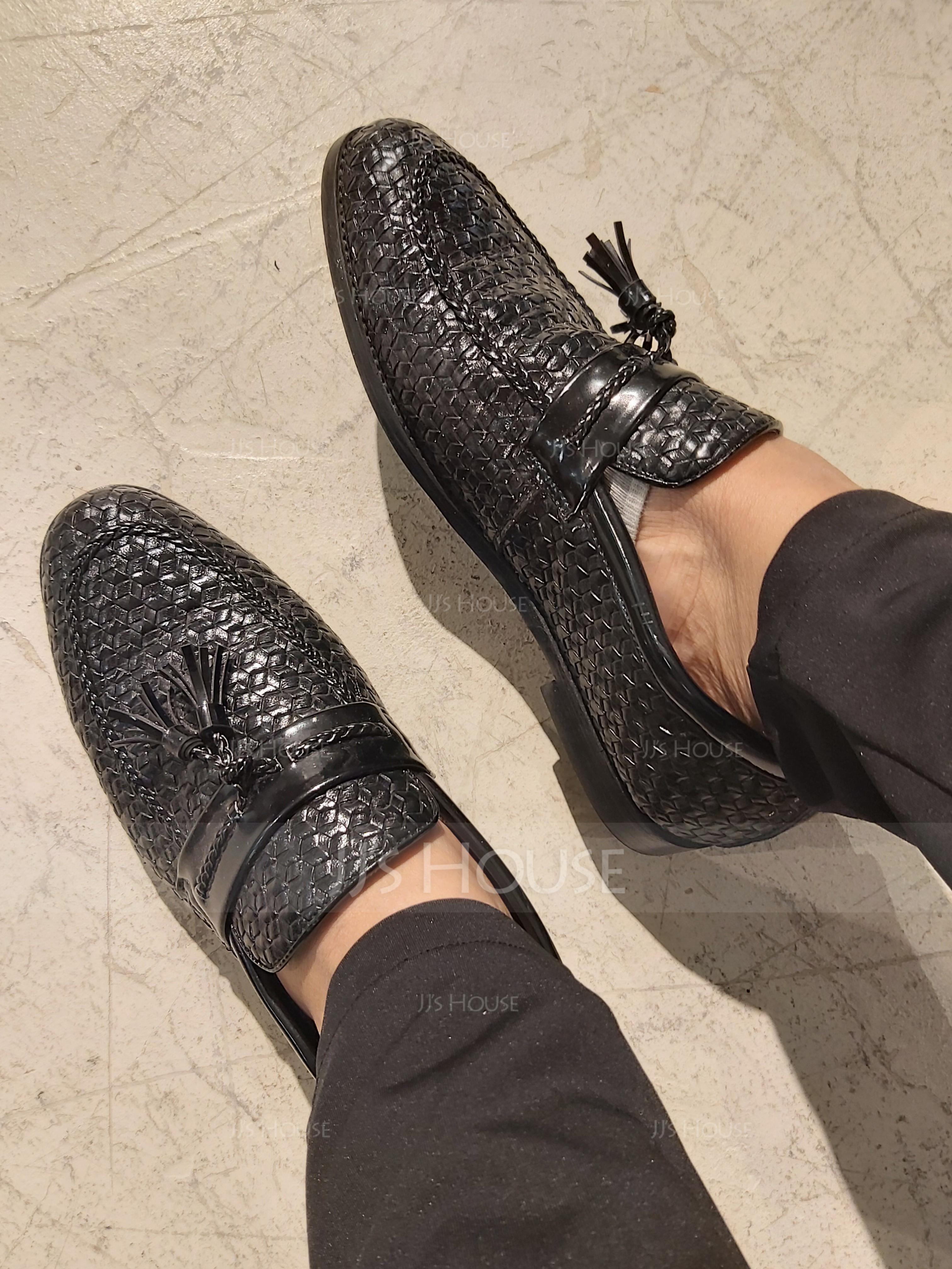 Men's Leatherette Tassel Loafer Casual Men's Loafers (260187401)