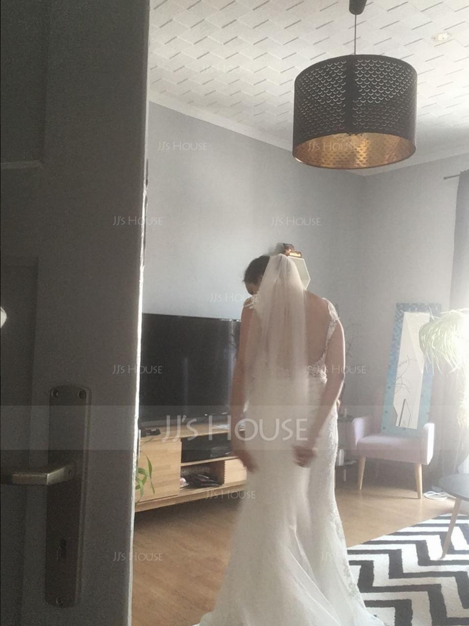 1 couche Voiles de mariée chappelle avec Dentelle (006190599)