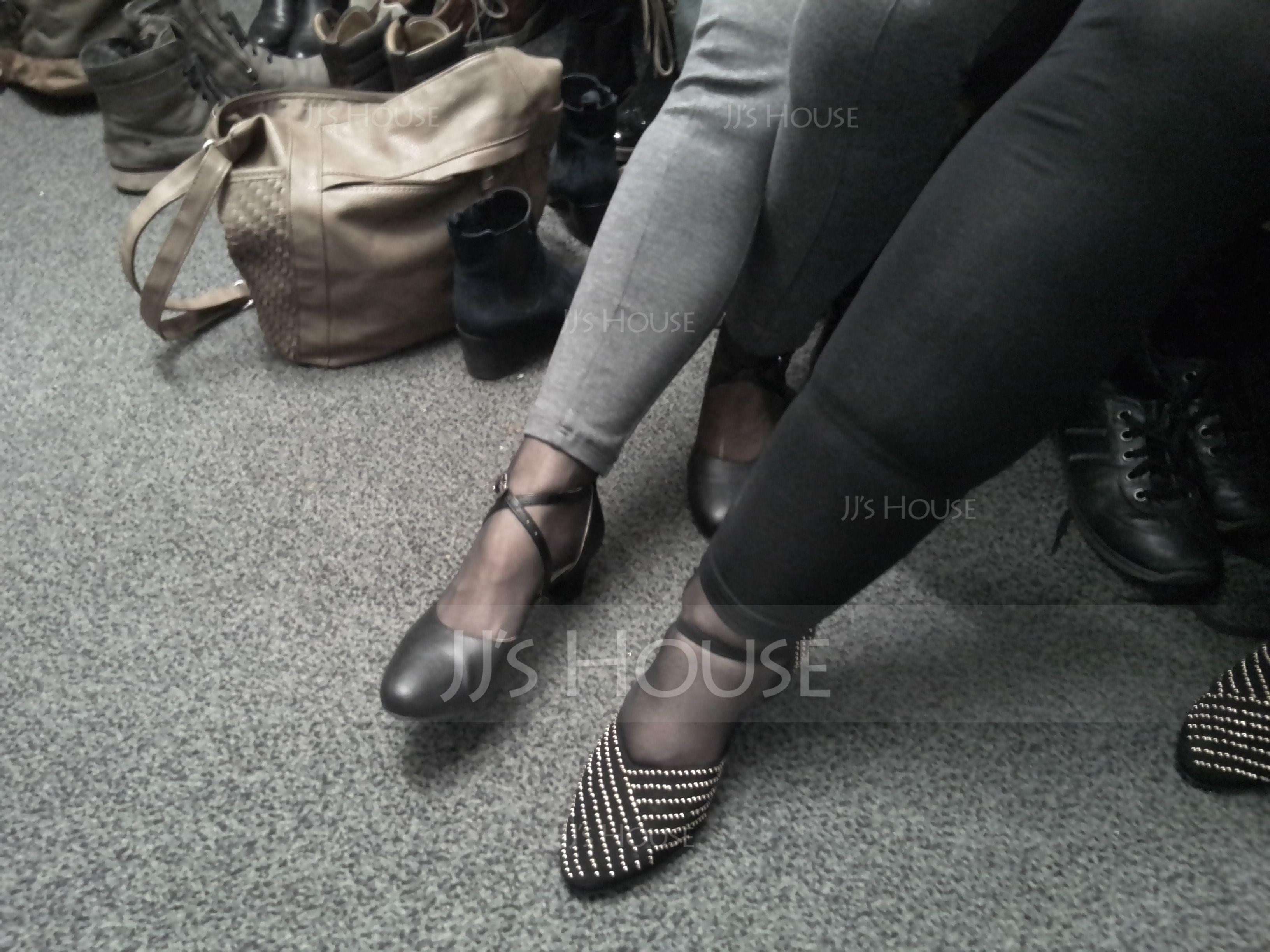 Mulheres Camurça Saltos Salão de Baile Sapatos de dança (053205413)