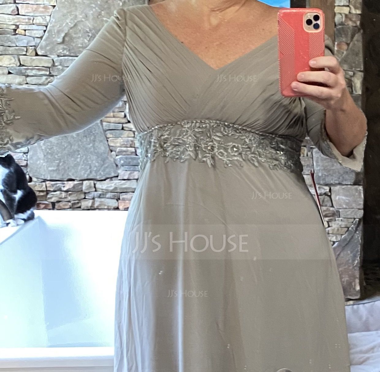 Chiffon Mother of the Bride Dress With Ruffle (008014434)
