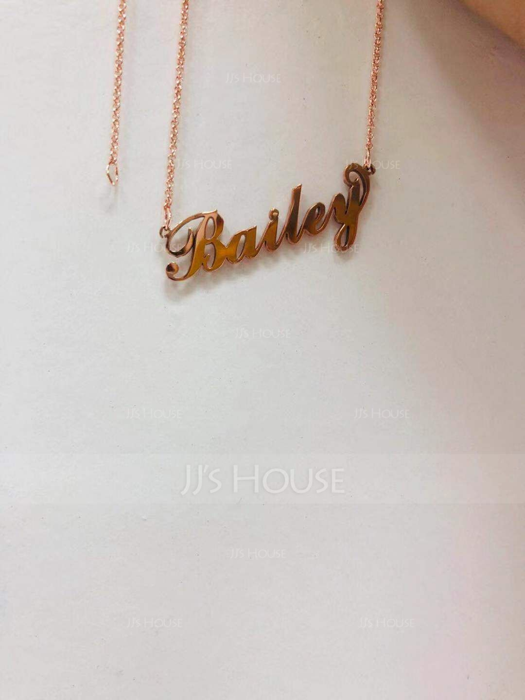 Custom 18k Rose Gold Plated Carrie Name Necklace - Valentines Gifts (288211301)