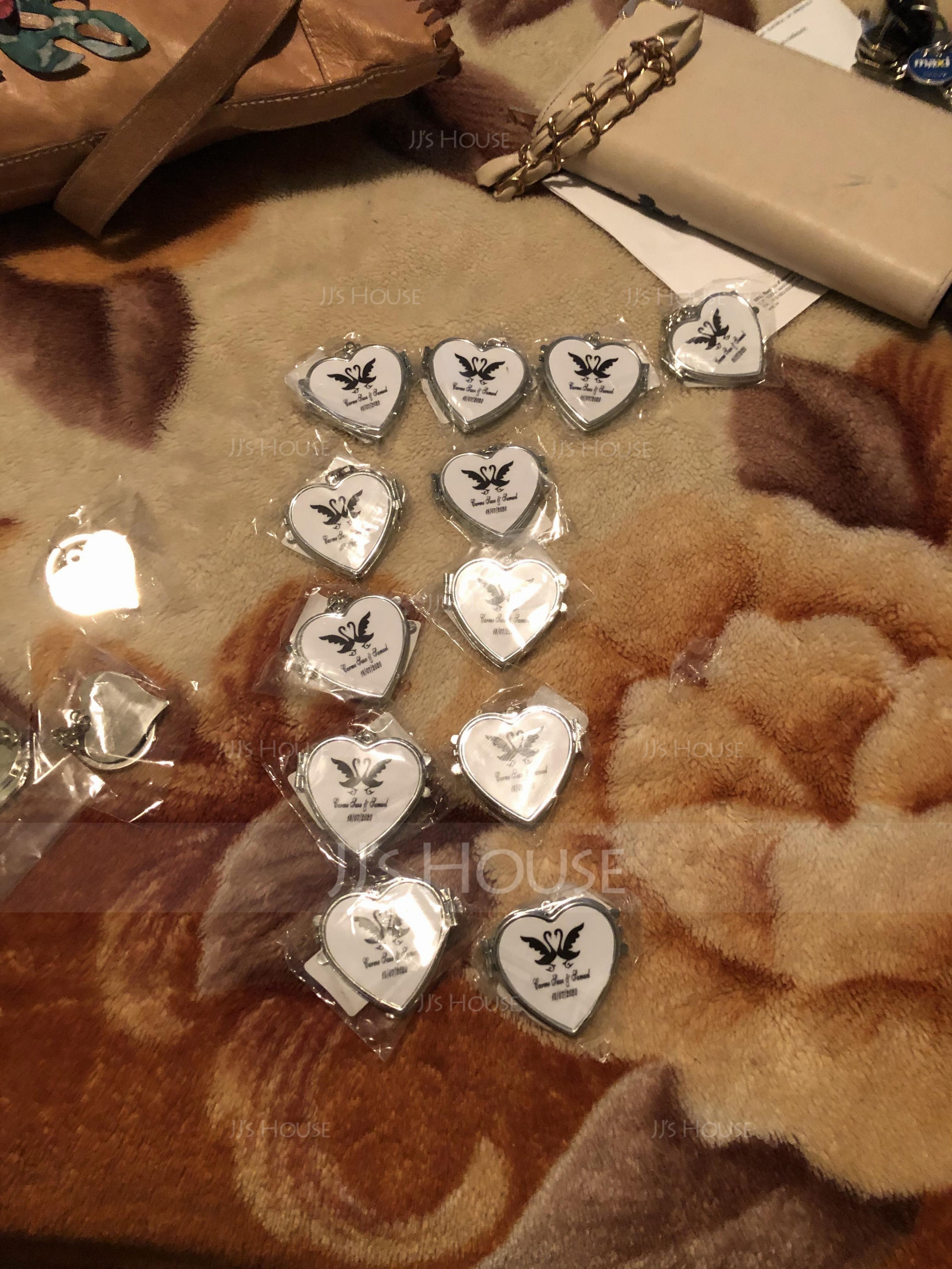 Personlig Hjerteformede Zinc Aluminiums Nøkkelringer (Sett med 4) (118031772)