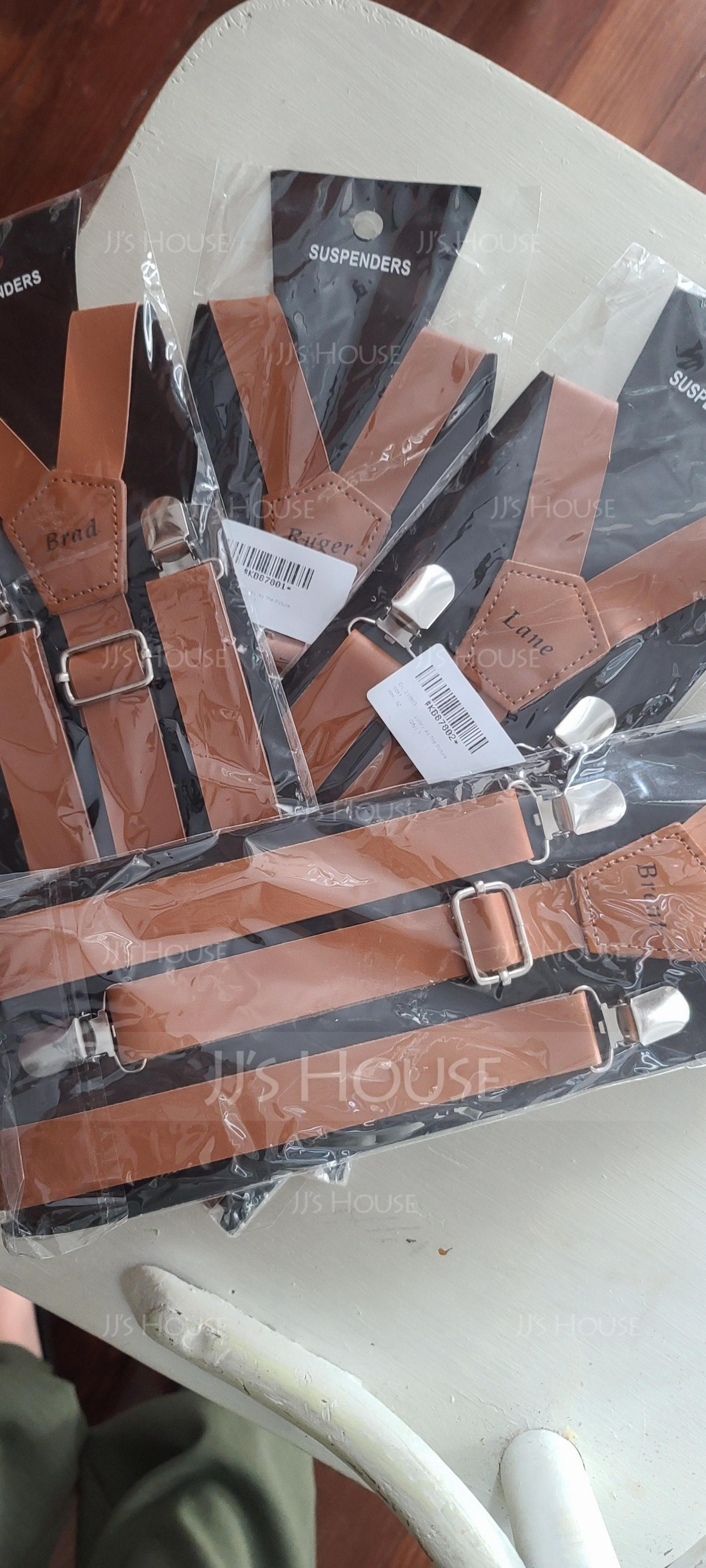 Personalized Classic PU Suspenders