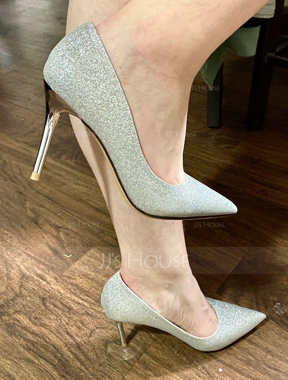 Women's Sparkling Glitter Stiletto Heel Pumps With Sparkling Glitter shoes (085115608)