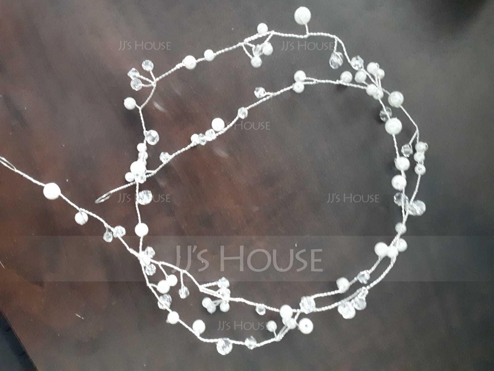 Ladies Romantic Alloy Headbands With Venetian Pearl (Sold in single piece) (042153907)