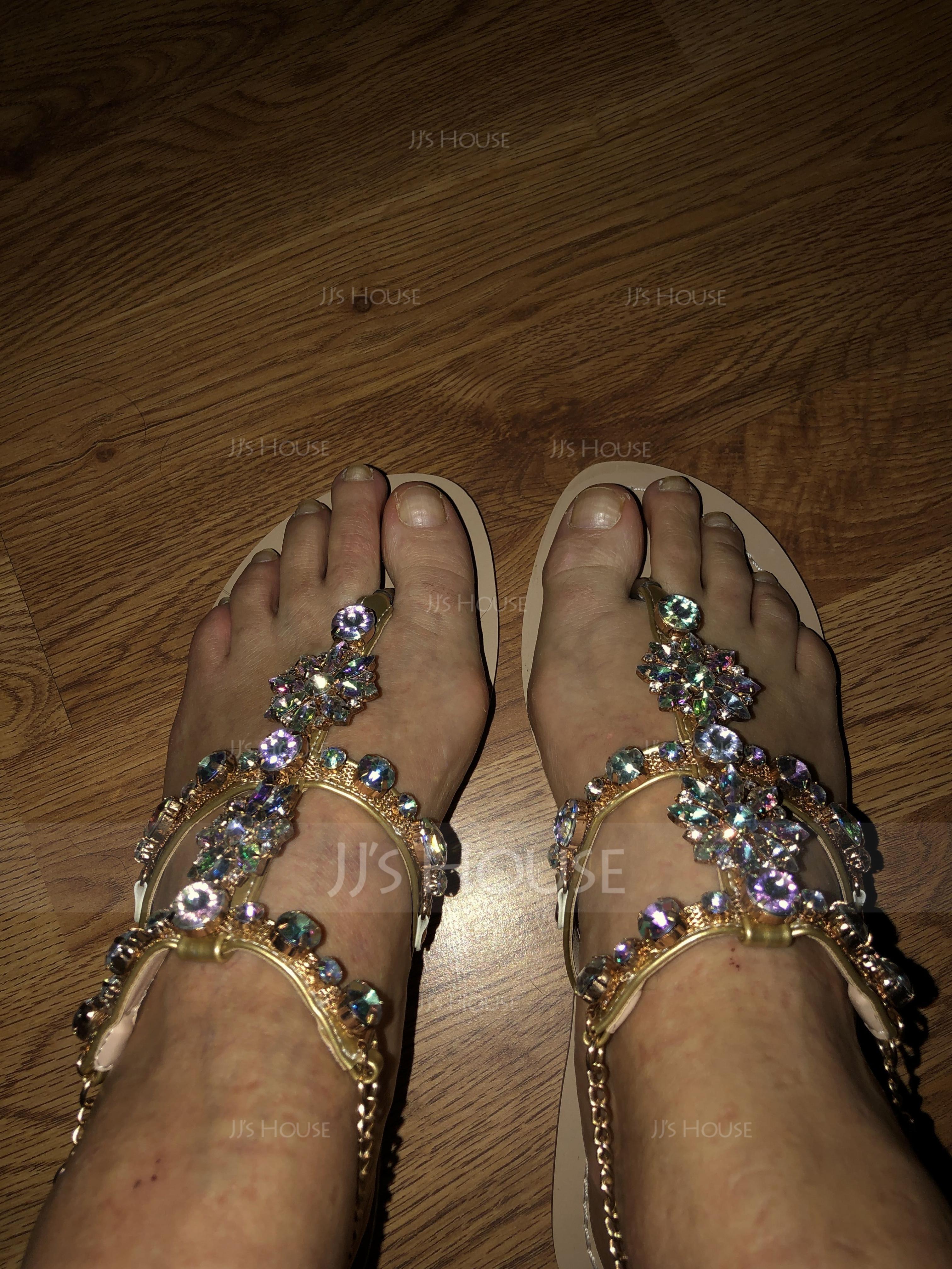 Naisten Keinonahasta Matalakorkoiset Heel Sandaalit Peep toe jossa Tekojalokivi kengät (087123909)