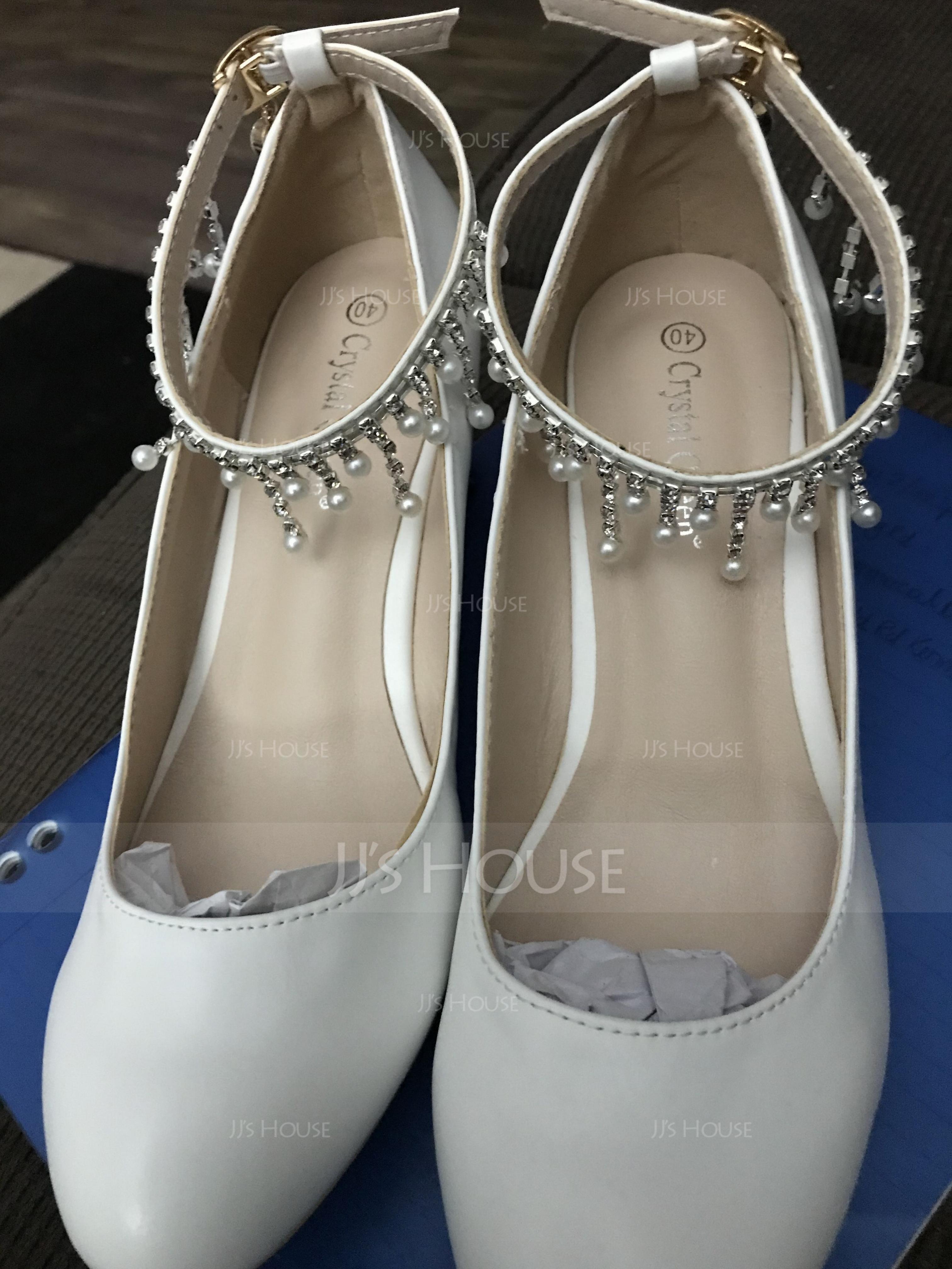 Women's Leatherette Wedge Heel Closed Toe Pumps With Tassel (047182385)