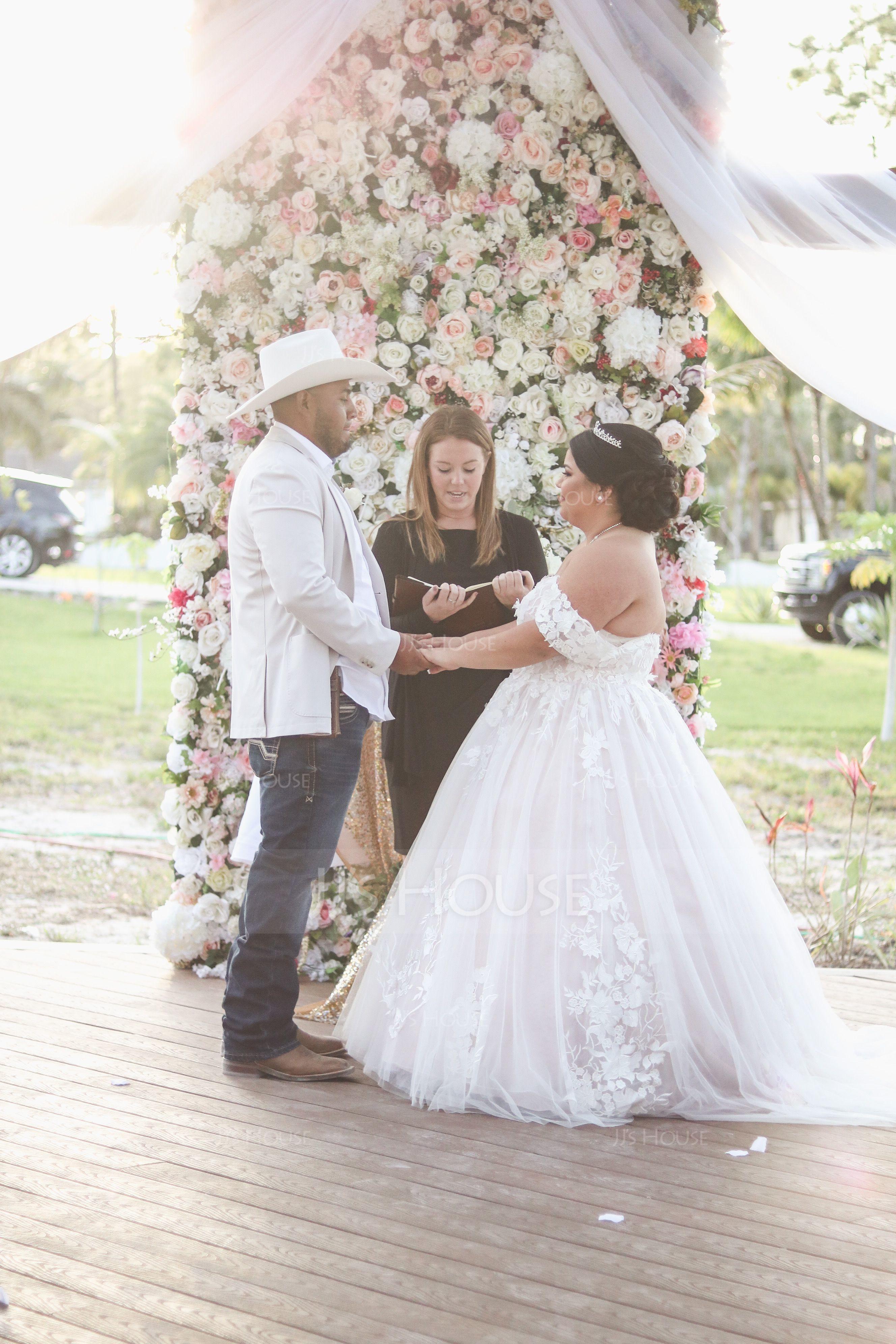 Ball-Gown Sweetheart Sweep Train Tulle Wedding Dress (002171937)