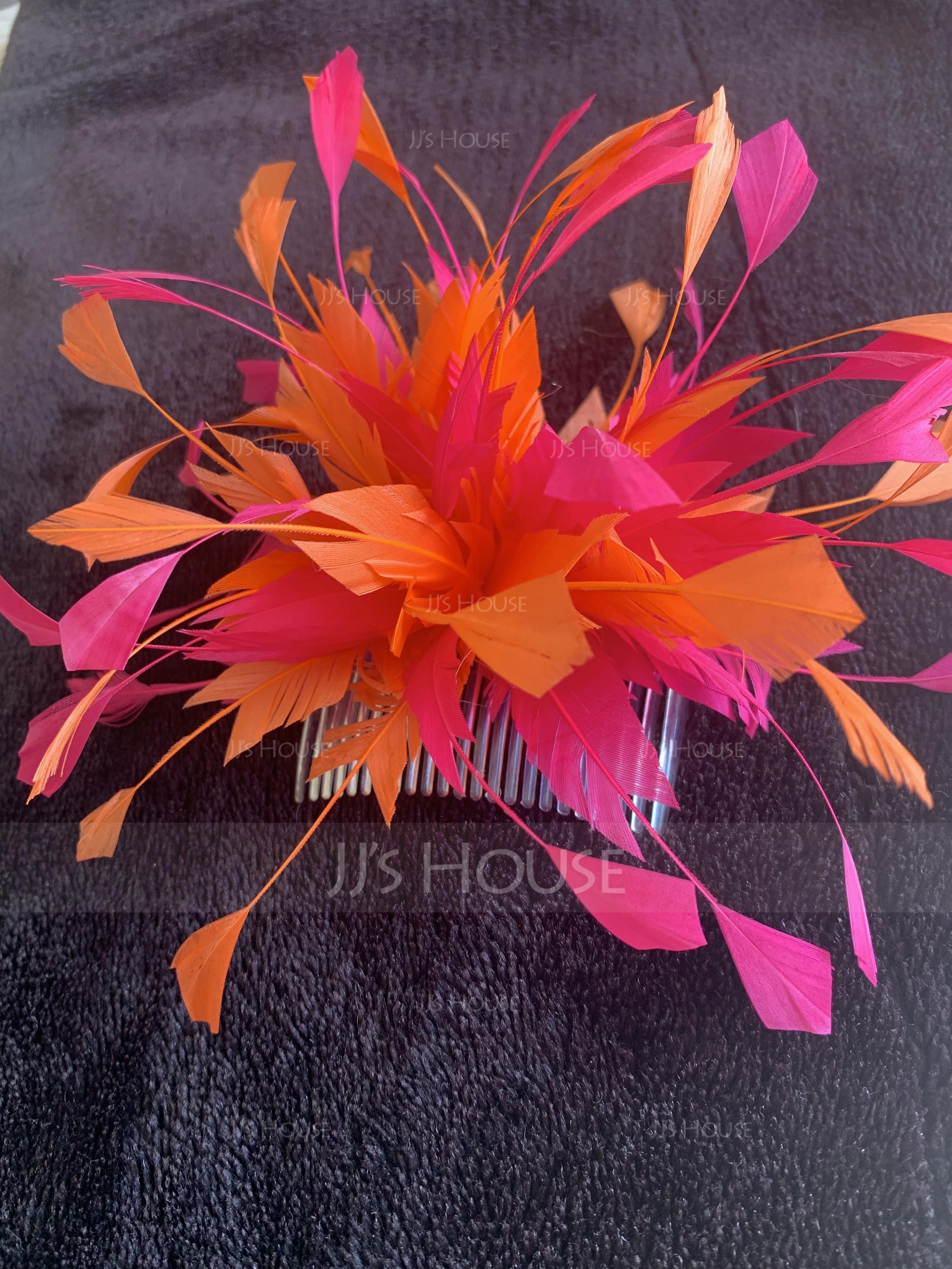 Ladies' Special フェザー とともに フェザー かぎ針編みスカーフ/ケンタッキーダービー帽子