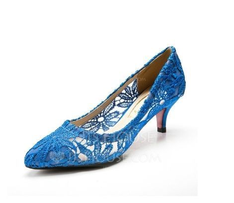 Women's Fabric Low Heel Closed Toe Pumps (047085035)