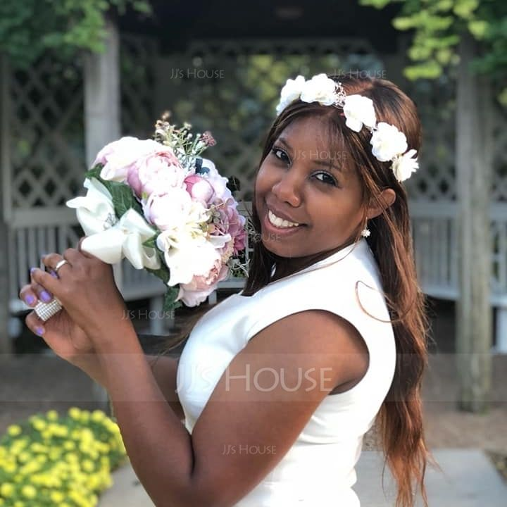 Round Satin Bridal Bouquets (Sold in a single piece) - (123138139)