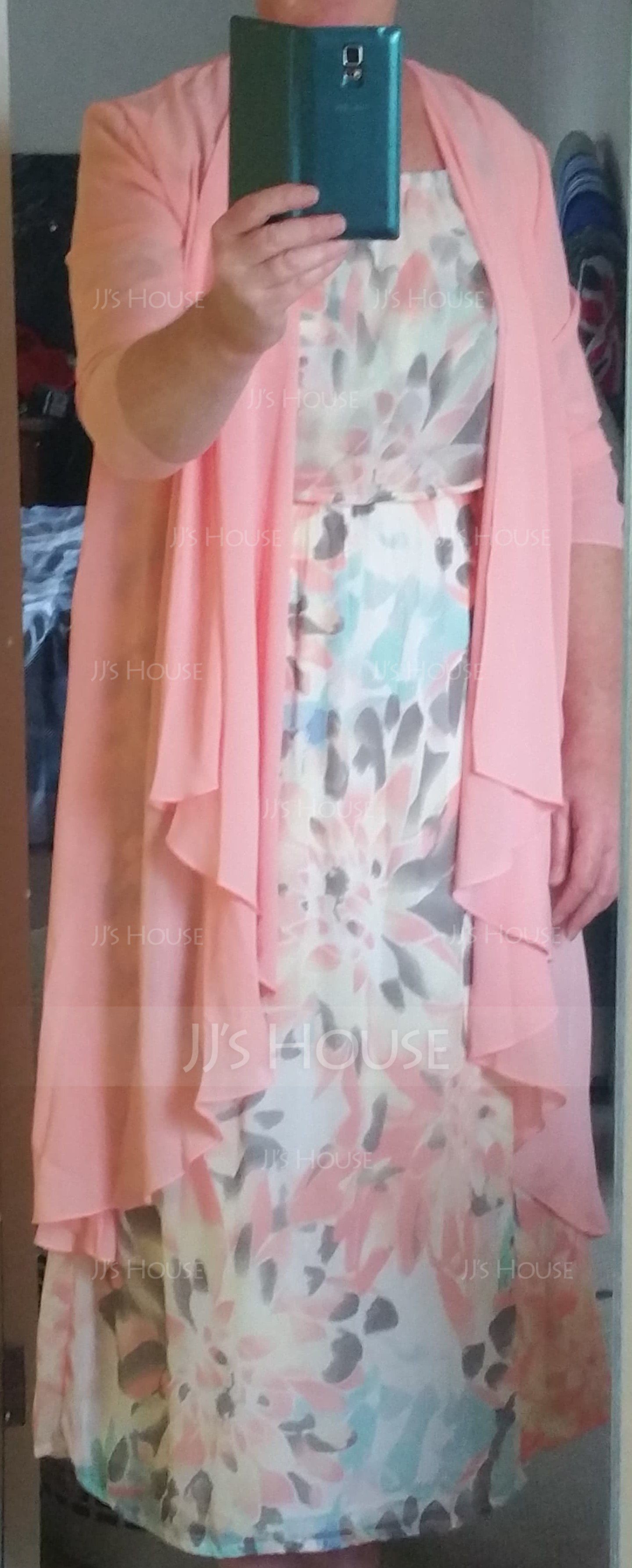 3/4-Length Sleeve Chiffon Special Occasion Wrap (013092015)