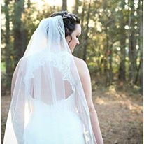 One-tier Cathedral Bridal Veils With Pencil Edge (006003968)